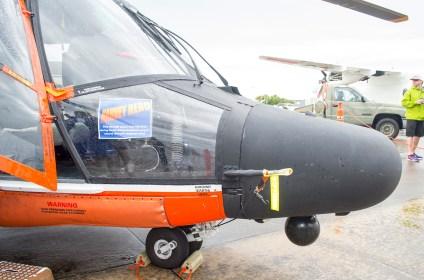 MH-65D Dolphin de la guardia costera, ilustrando su participación en labores de socorro tras el paso del huracán Harvey (foto: Javier Vera Martínez).