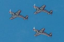 A gran altura, los capitanes Suez, Trujillo y Schönherr completan una de sus tres pasadas de reconocimiento sobre el Parque Araucano (foto: Cristian Castro).