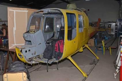 El Fairchild Hiller FH-1100 LV-JTW también pudo ser observado durante esta exposición. (Foto: E. Brea)
