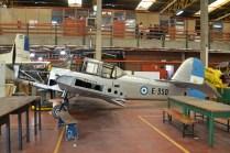El E-350, si bien carece de algunos componente sigue siendo el Percival Prentice mejor conservado del país. (Foto: E. Brea)