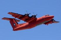 """Demostrando sus capacidades de despegues y aterrizajes cortos, el """"Fox Bravo Quebec"""" decoló tras recorrer menos de 800 m de la pista 18R (foto: Carlos Ay)."""