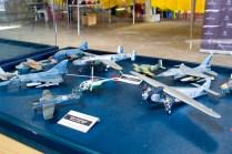 """Mas modelos a escala de aeronaves """"de combate"""" chilenas (foto: Javier Vera Martínez/La Serena Spotting)."""
