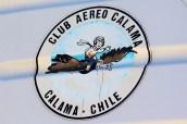 """Calama flyers"": Calama Air Club badge on Saratoga CC-NEA's tail (photo: Carlos Ay)."