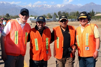 """Your friendly Los Andes crew"" (from left to right): Cristóbal Savard, Sergio Díaz, Marcelo Fernández and Eric Mardones (photo: Carlos Ay)."
