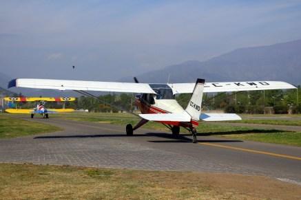 Argentine CPV residents: Aero Boero 180 CC-KWD and Stearman 75 CC-KWZ (photo: Carlos Ay).