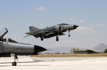 Turkish F-4E landing at Konya AFB (photo: Ronald de Roij and Peter Kooijman)