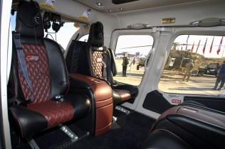 The 429WLG's spacious interior can accomodate four passengers in leisure seats (photo: Fernando Puppio).