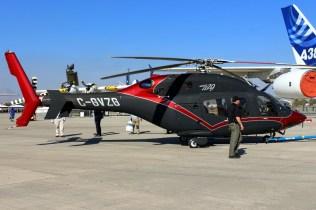 The 429WLG wheeled landing gear facilitates ground towing (photo: Carlos Ay).