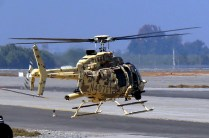 Hovering out of the military helipad on yet another demonstration flight (photo: Carlos Ay).
