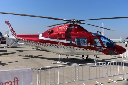 The first South American AW119Kx was destined to an as yet undisclosed Chilean corporate customer (photo: Carlos Ay).