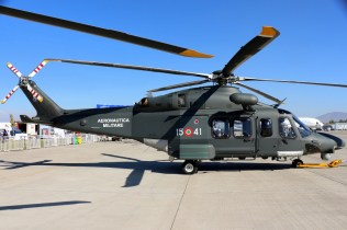 Perfect side view of the Italian Air Force HH-139W (photo: Carlos Ay).