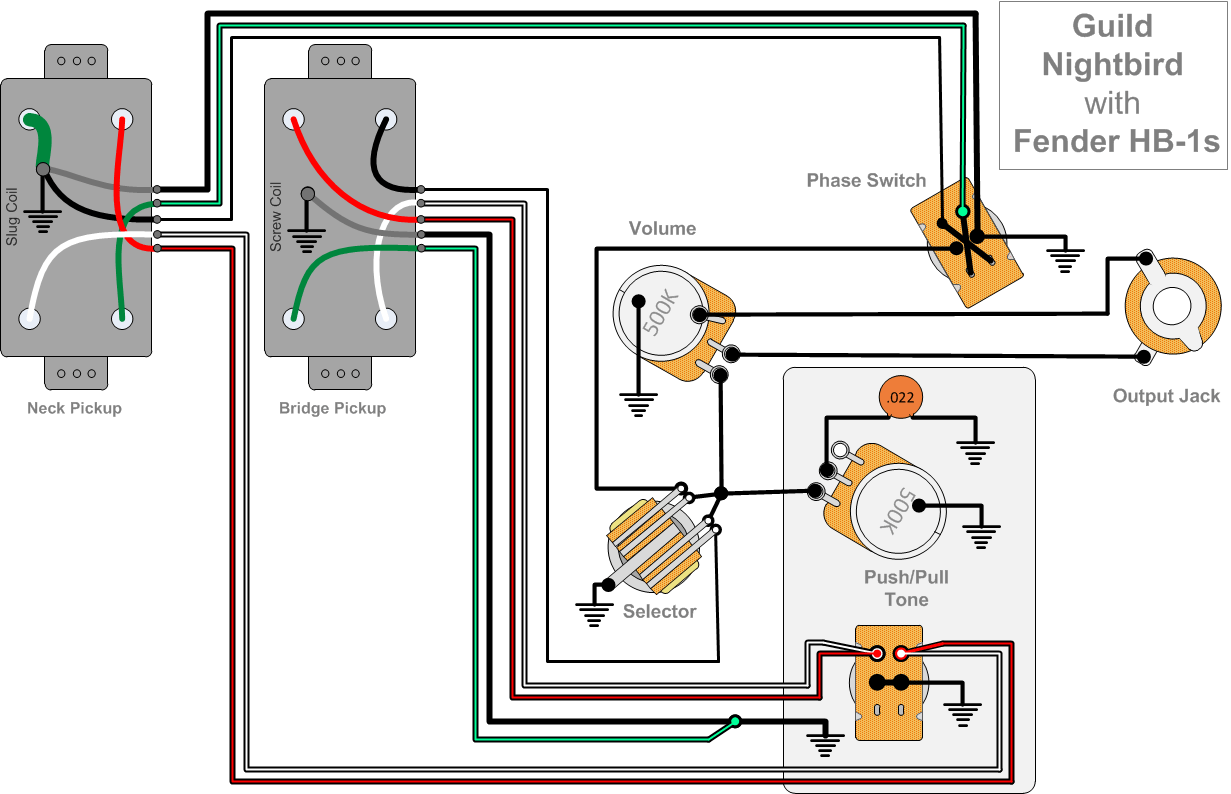 Guild Nightbird Fender HB1 Wiring2?resize=665%2C429 100 [ esquire wiring diagram humbucker ] rails esquire wiring esquire wiring diagram humbucker at soozxer.org