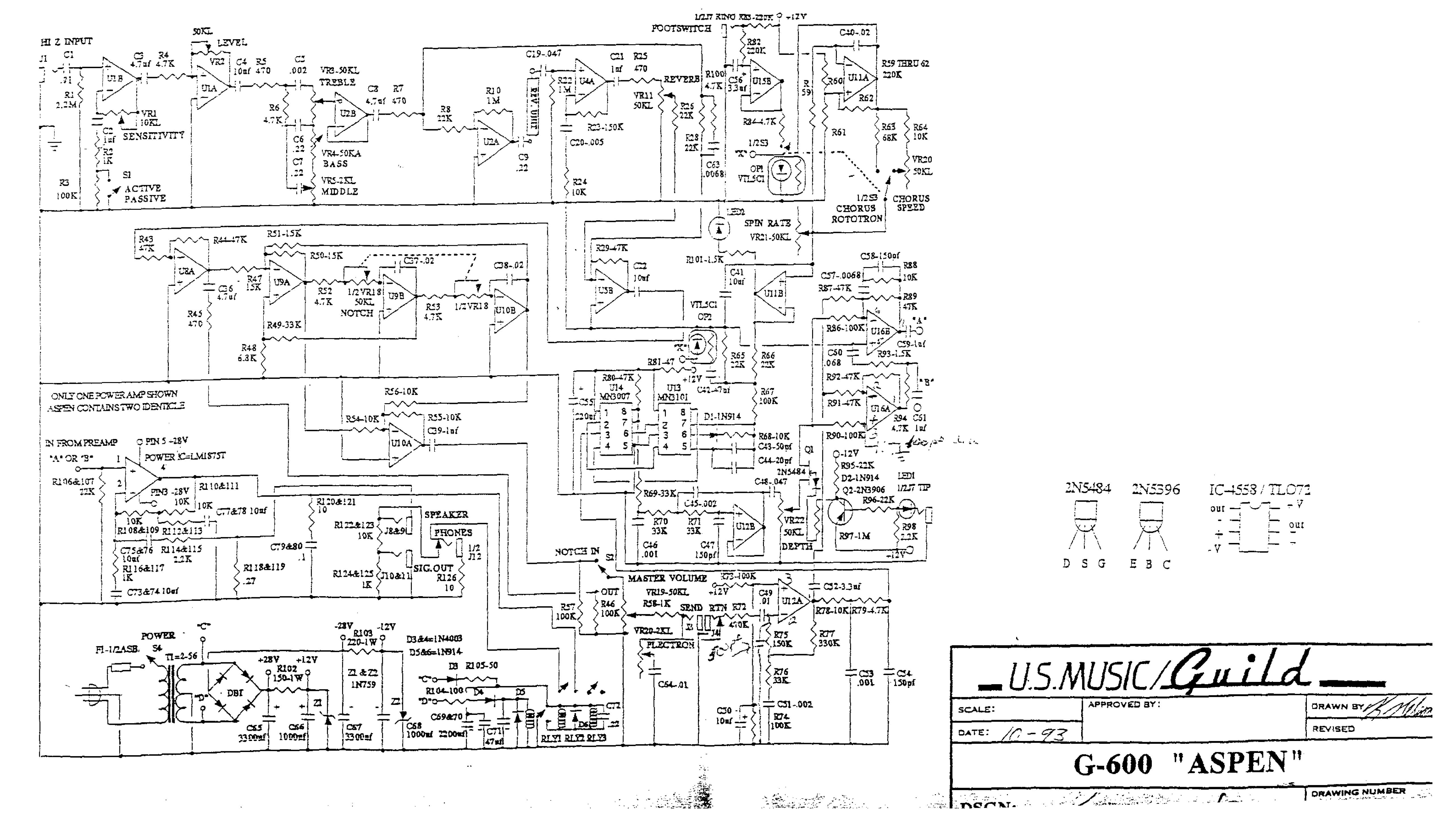 Guild G600 Aspen Acoustic Amplifier