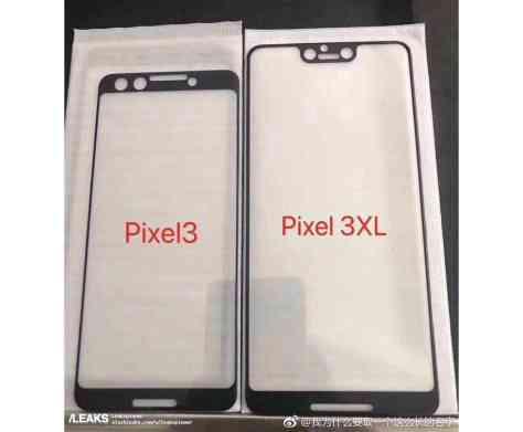 Google Pixel 3, Pixel 3 XL screen design leak