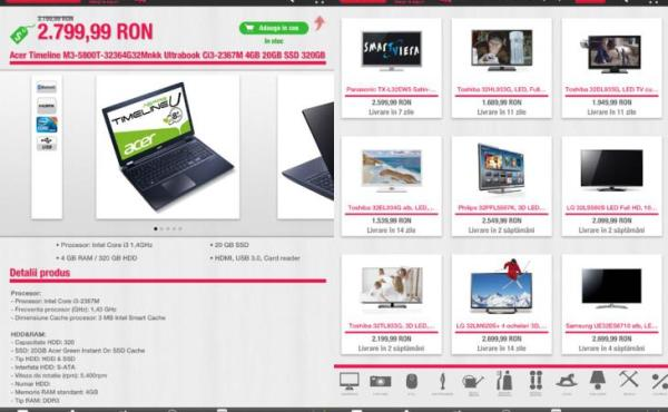 aplicatia oficiala Clickshop tableta iPad Romtelecom