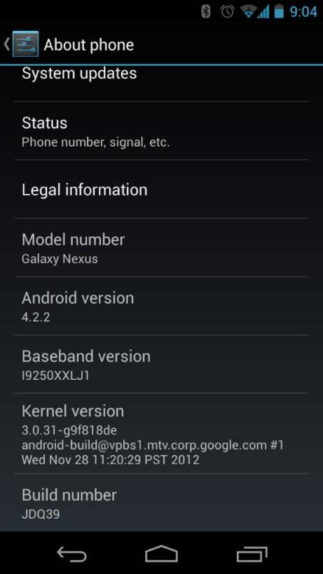 galaxy nexus update android 4.2.2 jdq39