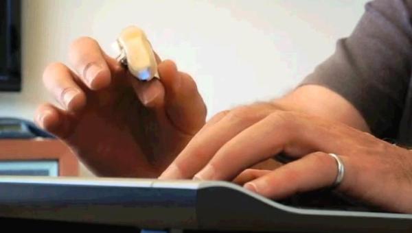 concept mouse 3D Mycestro pentru deget