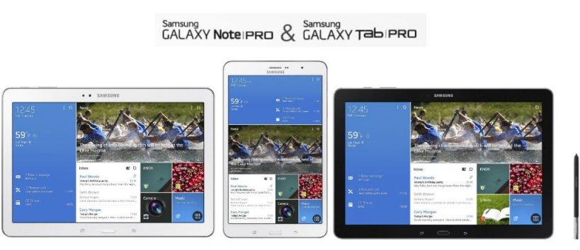 Galaxy Note Pro si Galaxy Tab Pro