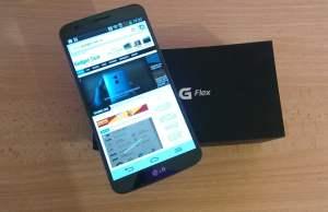 despachetarea LG G Flex