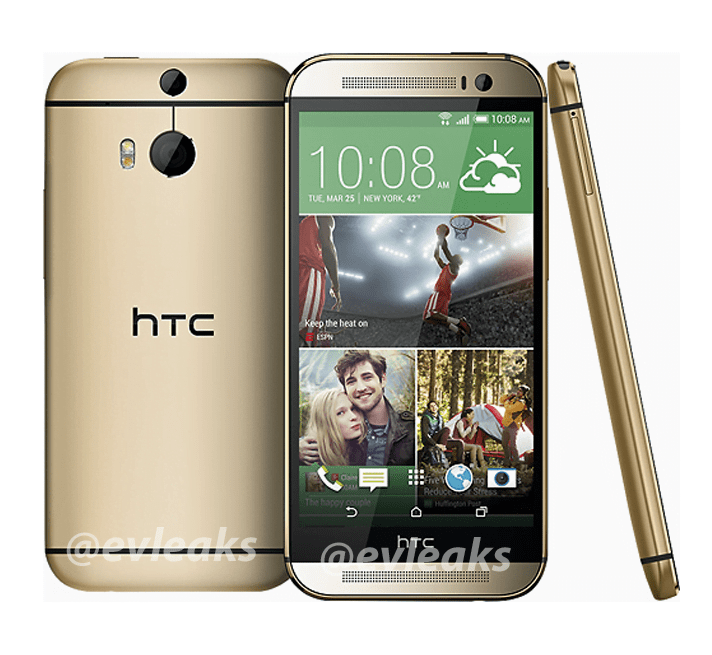 HTC One 2 Gold