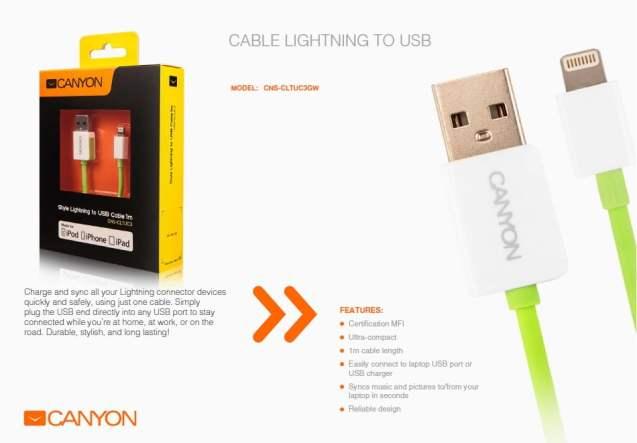 canyon accesorii de sarbatori cablu lightning 1