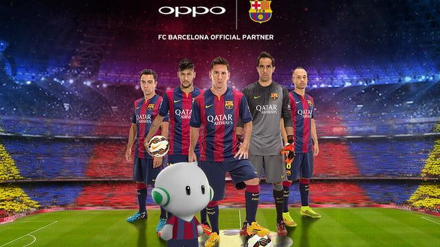 Oppo devine sponsorul echipei FC Barcelona