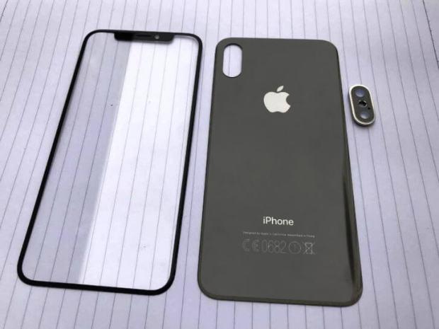 Fata, spate si scheletul metalic al telefoanelor iPhone 8