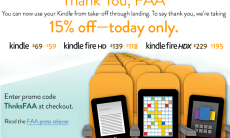 Amazon offers Kindle discounts