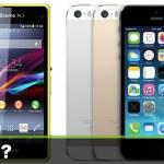 Xperia Z1fとiPhone5swww
