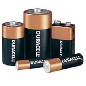 Mixed Duracell batteries