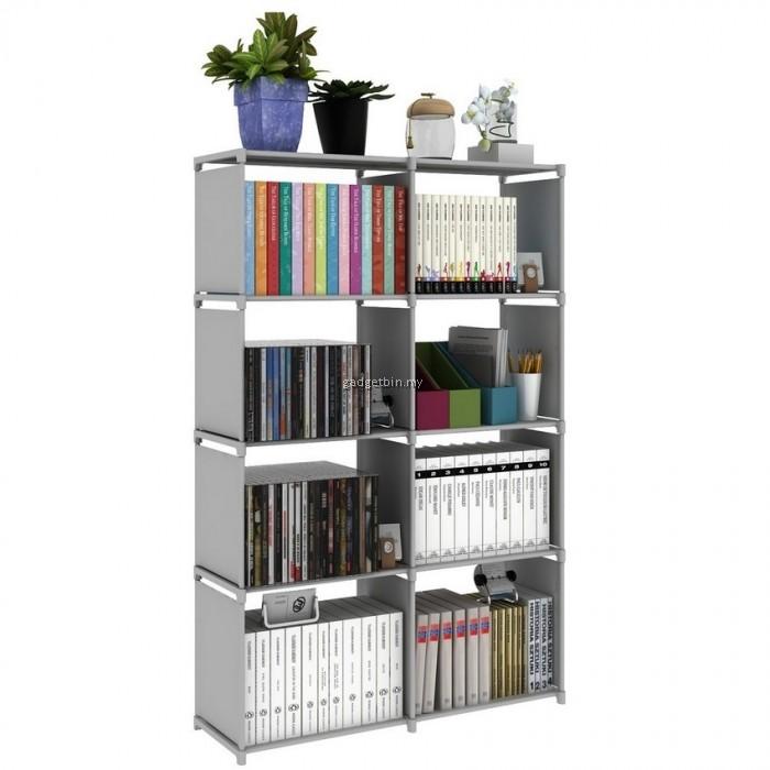 portable diy book storage rack 5 tier