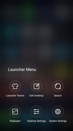 Launcher Menu