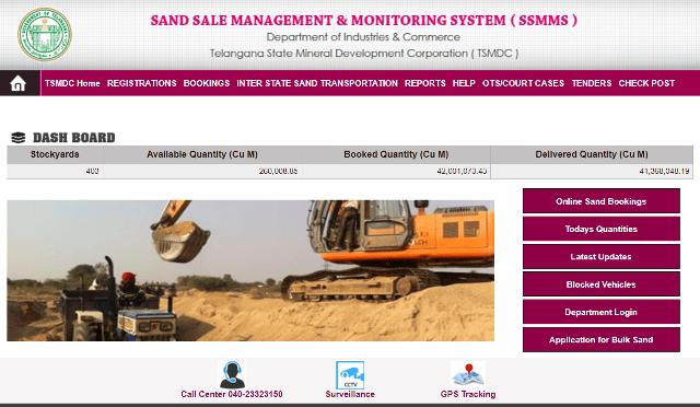 TS Sand Booking (SSMMS): Registration & Track Sand Order Status