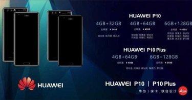 Huawei P10 and P10 Plus press render