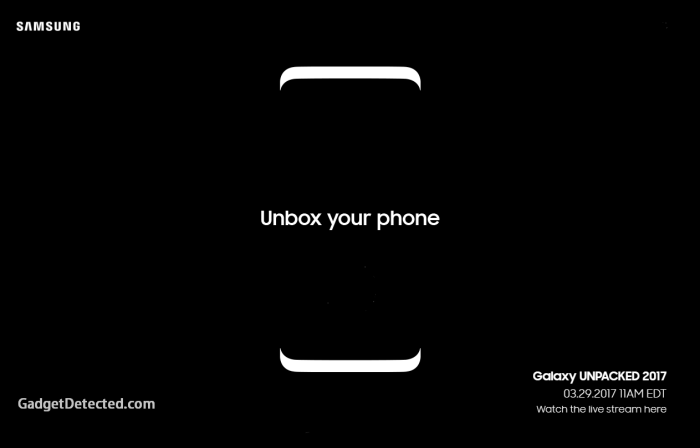 Samsung Galaxy S8 live announcement