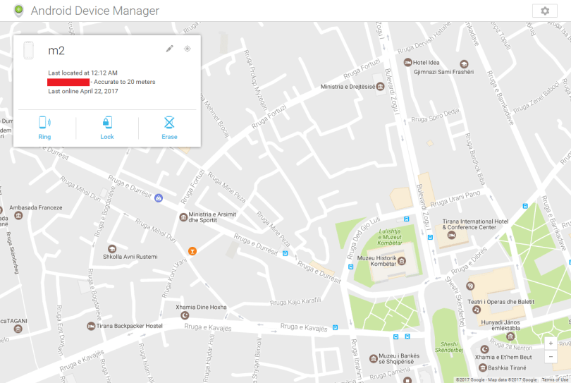 locate my phone android device manager