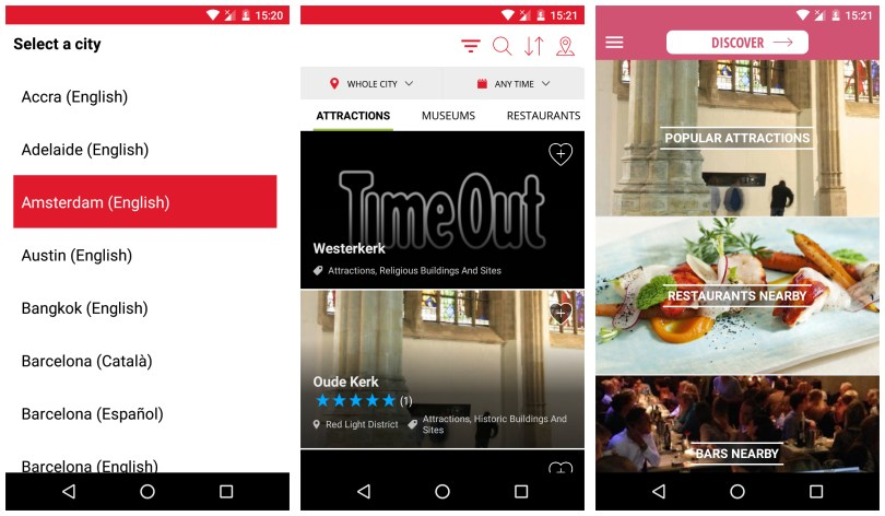 Time Out app for travelers to explore cities