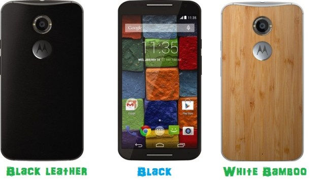 Moto X(2nd gen) black, leather and bamboo to be released in India