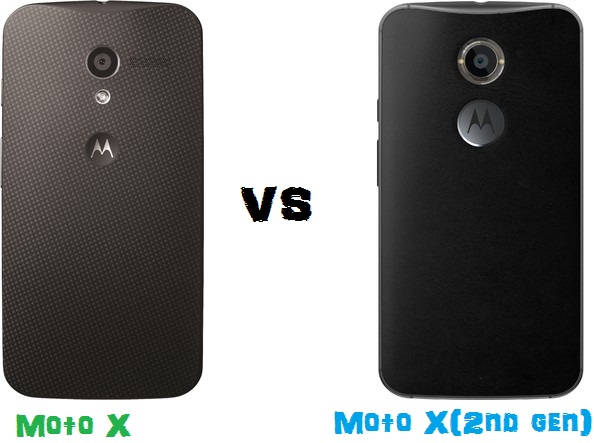 Moto X Vs Moto X(2nd Gen) comparison