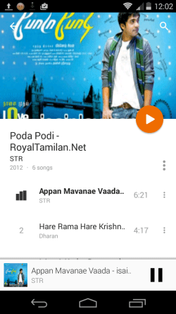 Play Music Android L design update
