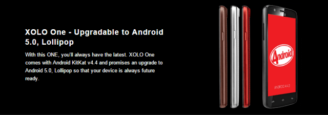 Xolo One with Android L update
