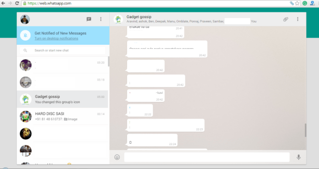 WhatsApp Web allows you to use WhatsApp on browser