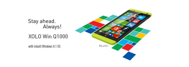 Xolo Win Q1000 with Windows 8.1 priced Rs.8,499