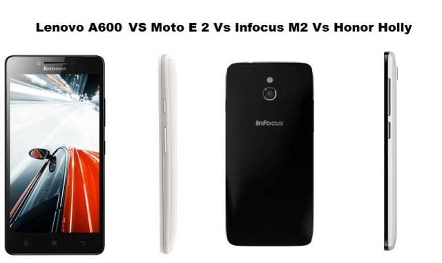 Lenovo A6000 Vs Moto E 2nd Gen Vs Infocus M2 Vs Honor Holly