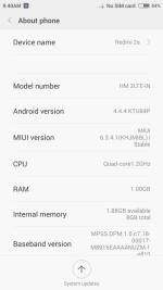 Redmi 2 User Interface