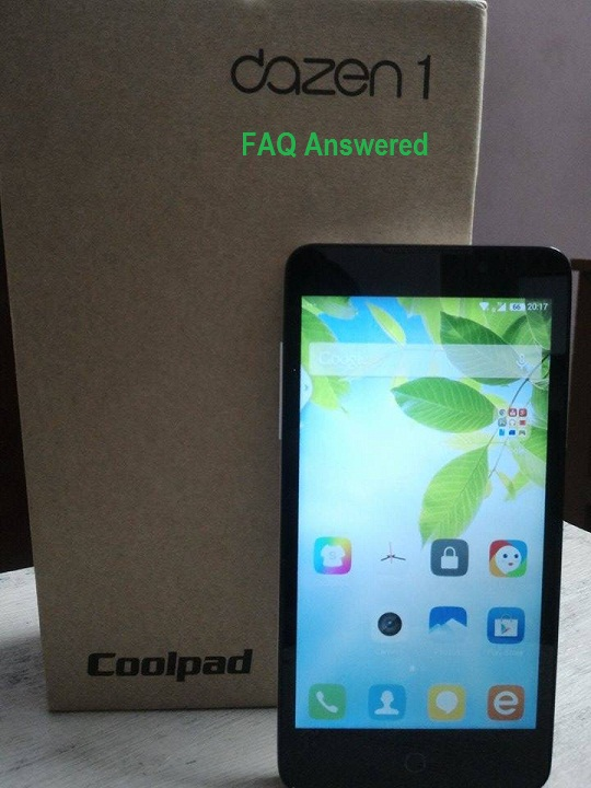 CoolPad Dazen 1FAQ and doubts answered