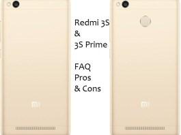 Xiaomi Redmi 3S , Redmi 3S prime FAQ, Pros & Cons