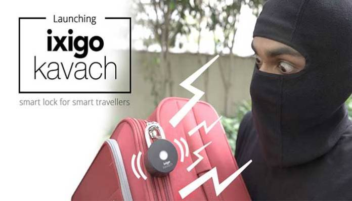 ixigo kavach is a smart lock solution for a smart traveler.