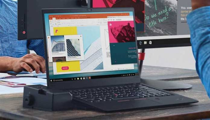 Lenovo ThinkPad X1 Carbon (6th Gen) laptop features an iconic trackpad.