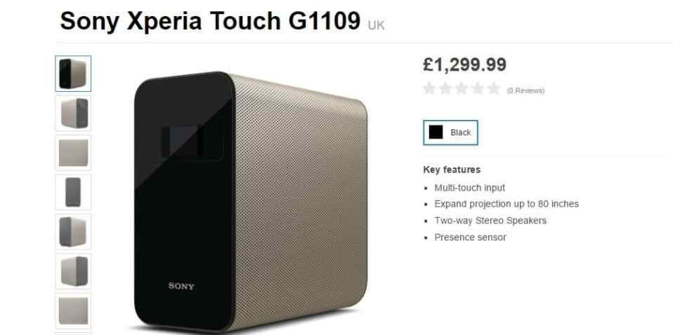 Sony Xperia Touch Projector that will turn any surface into a touchscreen